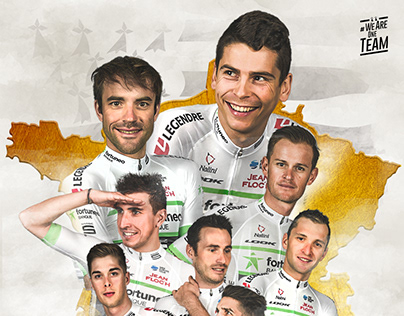 Cycling team poster