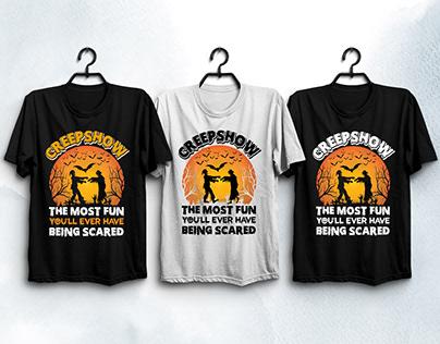 CreepShow Halloween T-Shirt Design