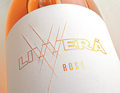 Livverá Rosé 2019. Wine Label for Escala Humana Wines.