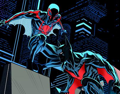 Spiderman 2099/Batman beyond team up