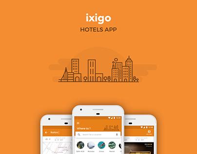 ixigo Hotels App Concept