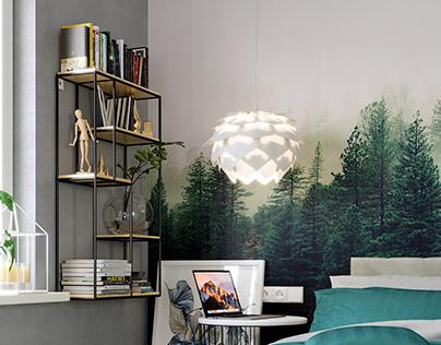 Forest Bedroom Full CGI