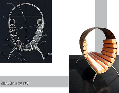 Spiral Chair for two - Working Maquette