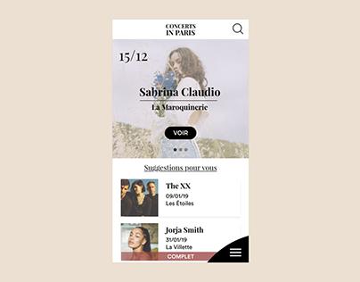 Concert mobile application