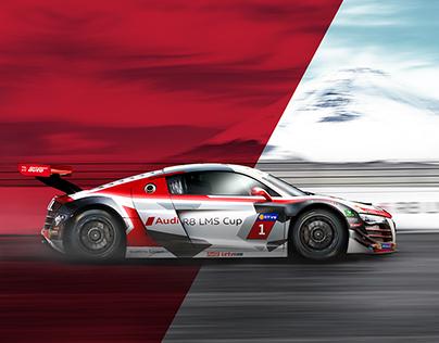 Audi R8 LMS Cup in Fuji