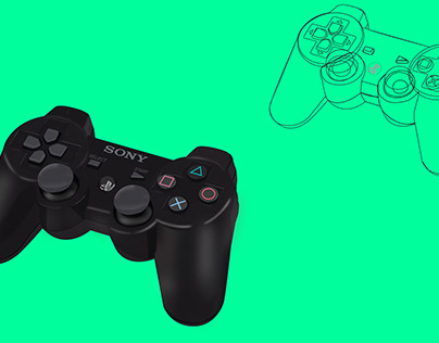 PS4 Controller Realistic Vector Render