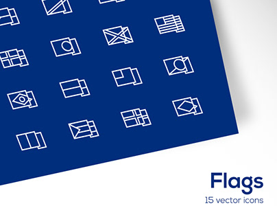 Flag Outline Icons