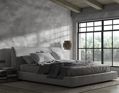 CGI | -Wabi-sabi inspired bedroom