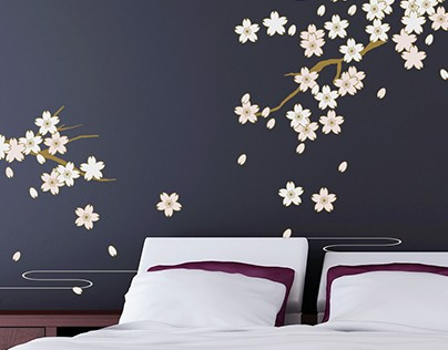 Nature Home Deco Flower Tree Stickers