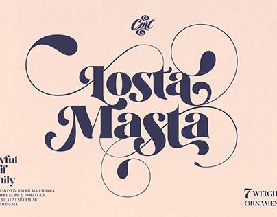 Losta Masta - Playful Serif Family