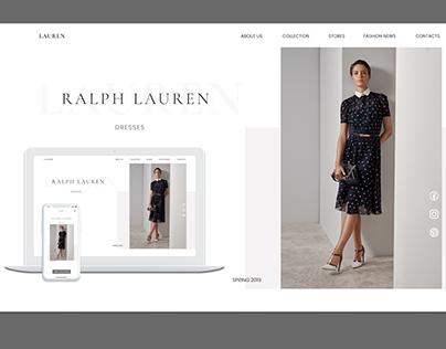 Fashion brand Desktop Mobile UI/UX