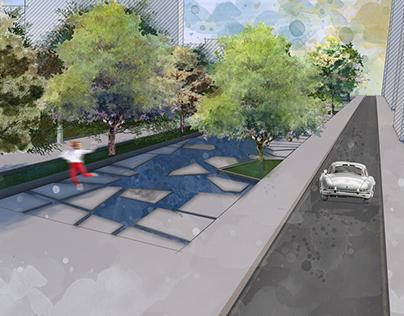Conceptual project of «Mashtots park»