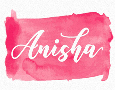 ANISHA - FREE SCRIPT FONT