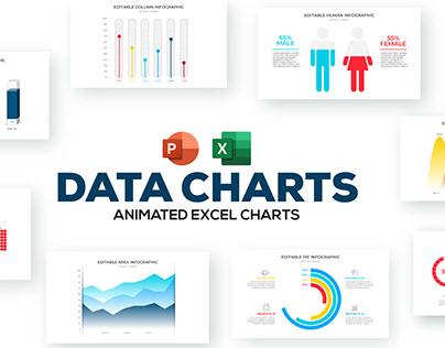 Free Excel Animated Data Charts nfographic