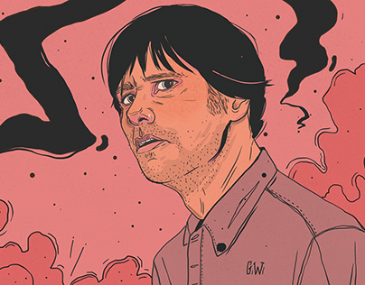 Jim Carrey illustrations for Bantmag.