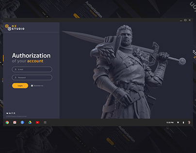 Personal account design for game-developer at NX-Studio
