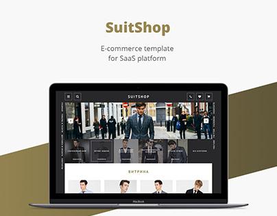 Suit shop/E-commerce template/Web design/UI/UX