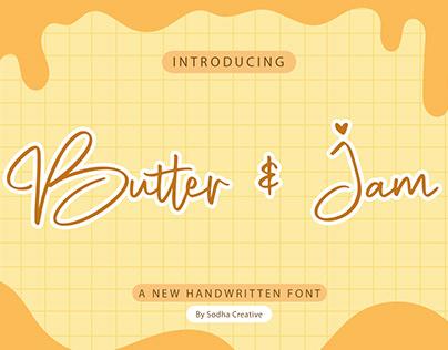 Butter & Jam - Handwritten Font