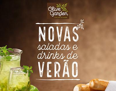 Cardápio Novas saladas e drinks de verão Olive Garden