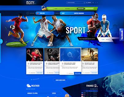 OCITY.eu - graphic design web porta