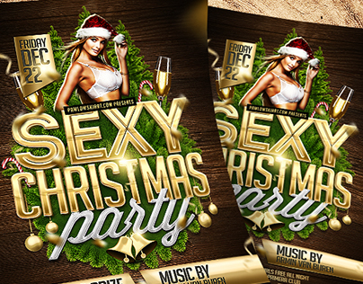 Sexy Christmas Party Flyer (DOWNLOAD .PSD NOW!)