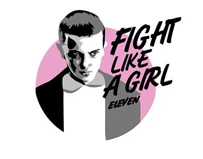"""""""Fight like a girl"""" серия принтов"""