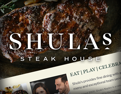 Shula's Steakhouse Naples Website Design and Dev