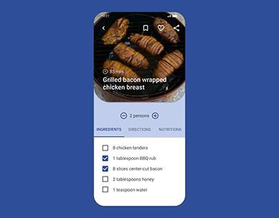 Website with Recipes | Daily UI 040