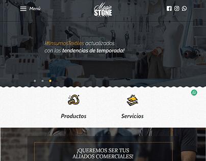 Theme WordPress Magic Stone Insumos