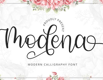 Modena - Modern Calligraphy Font