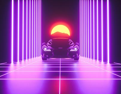 Retrowave Audi
