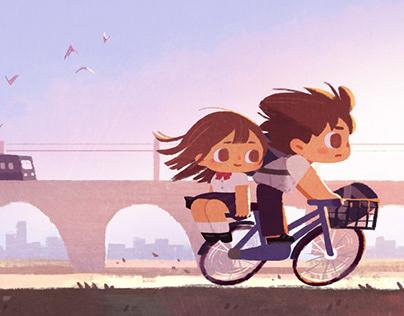 Japan Summer Illustration