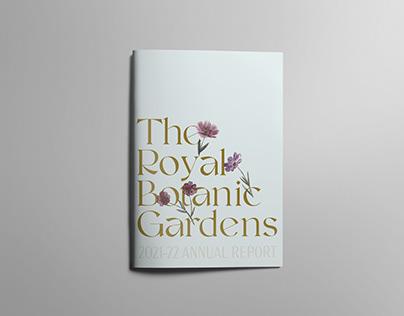 Royal Botanic Gardens Annual Report Design