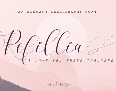 Free Refillia Calligraphy Font