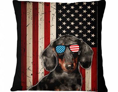 American Flag Dog Breeds 2021- Pillow
