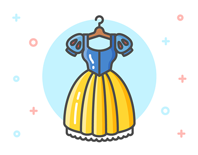 Princess Dress Icon Series