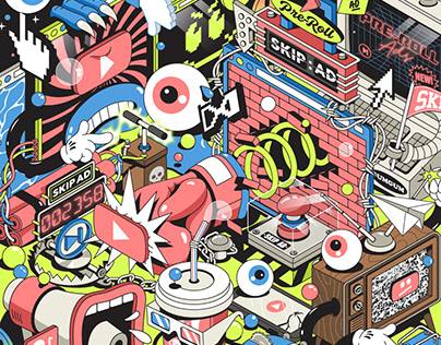GUMGUM PRE-ROLL ADS / EDITORIAL ILLUSTRATION