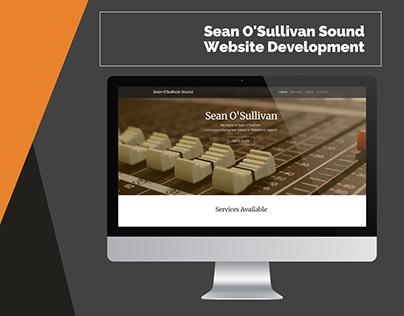 Sean O'Sullivan Sound Website Development