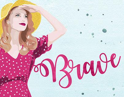 Brave - edytorial illustration for Kreatywne Magazine.