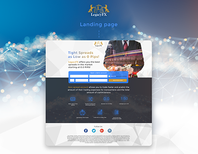 Landing page for forex