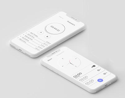 Clean Design UI Alarm