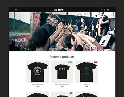 Stage Dive - Ecommerce Website