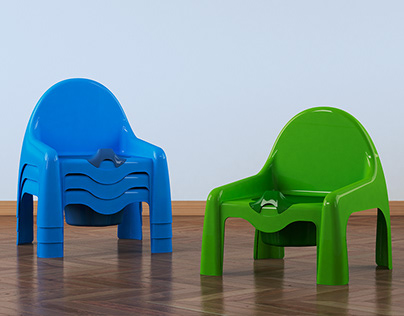 Design of Potty and Child's Tray - MOLDBLADE