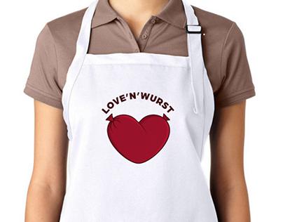 """""""Love'n'Wurst"""" logo & identity"""