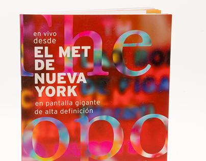 Materiales impresos para el MET de Nueva York