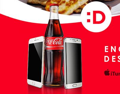 Coca-Cola Destapp activation poster