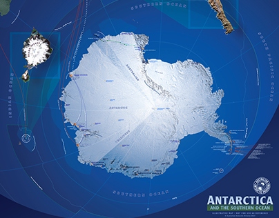 Anatarctica MAP Mural re-creation