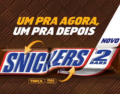 Lançamento Snickers 2 Bars