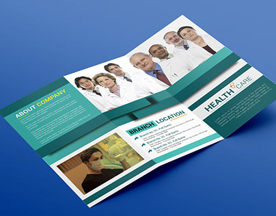 Medical care hospital ''tri fold'' brochure