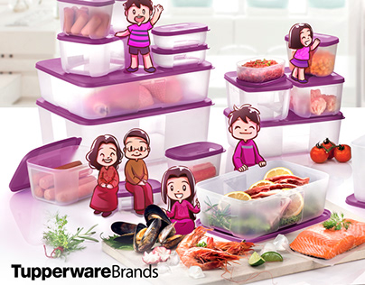 Tupperware FreezerMate with Tyler and Winnie
